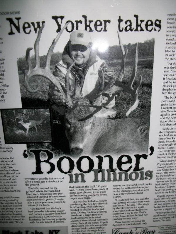 "New Yorker Takes ""Booner"" in Illinois."
